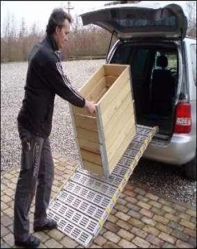 Aluramper eller slisker som bliver brugt til tungt gods