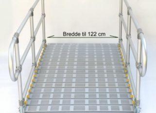 Rampe bredde 122 cm fx. som kørestolsrampe