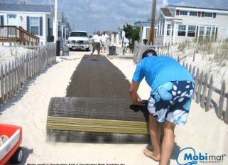 Strand rulletæppe / Rulbare terræntæpper & måtter